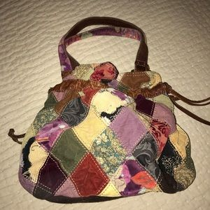 Lucky Brand patchwork hobo tote bag